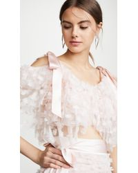 Rodarte - Embroidered Tiered Off Shoulder Blouse - Lyst