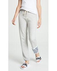 Sundry - Striped Colorblock Sweatpants - Lyst