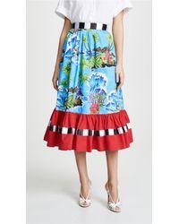 999ebe7dbb Stella Jean Graphic-print Cotton-blend Pencil Skirt - Lyst