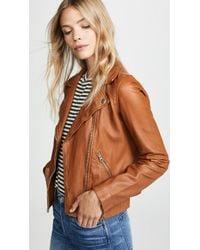 Madewell - Washed Leather Moto Jacket - Lyst