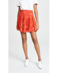 10 Crosby Derek Lam - Pleated Mini Skirt - Lyst
