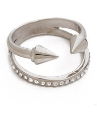 Vita Fede - Ultra Mini Titan Crystal Band Ring - Lyst