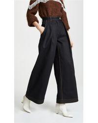 Ferragamo - Wide Leg Jeans - Lyst