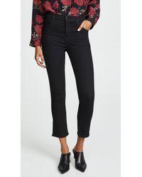 J Brand - Ruby High Rise Crop Cigarette Jeans - Lyst