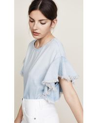 AG Jeans - Shannon Chambray Top - Lyst