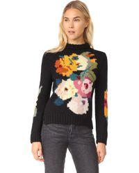 Smythe - Alpaca Floral Intarsia Jumper - Lyst