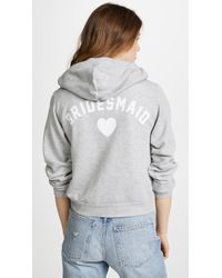 Wildfox - Bridesmaid Zip Up Hoodie - Lyst