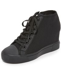 DKNY - Cindy Mesh Wedge Trainers - Lyst