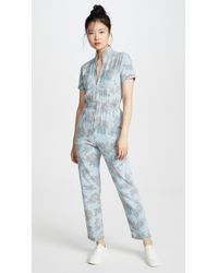 Mother Zip Up Jumpsuit - Blue