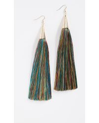 Eddie Borgo - 15cm Silk Tassel Earrings - Lyst