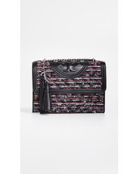 Tory Burch - Fleming Tweed Convertible Shoulder Bag - Lyst