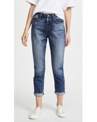 Tortoise   Dory High Waisted Tapered Crop Jeans   Lyst