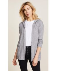 Chaser | Open Front Hooded Cardigan | Lyst