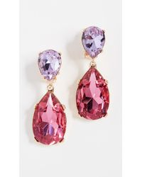 Kenneth Jay Lane - Double Teardrop Clip On Earrings - Lyst