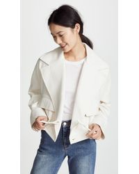 Vince - Cropped Lapel Jacket - Lyst