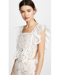 Red Carter - Adair Cropped Lace Top - Lyst