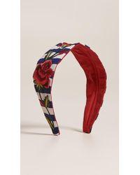 NAMJOSH - Striped Rose Headband - Lyst