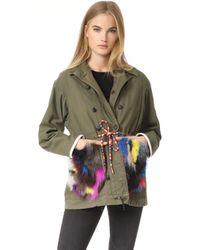 Harvey Faircloth - Fur Trimmed Field Coat - Lyst
