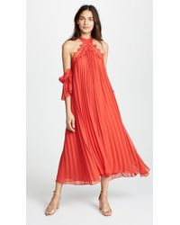 Glamorous - True Decadence Maxi Dress With Pleats - Lyst