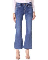 M.i.h Jeans - Lou Cropped Flare Jeans - Lyst