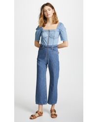 Sea - Two Tone Jumpsuit - Lyst