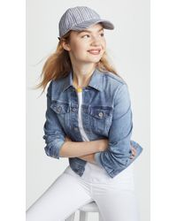Madewell - Textured Stripe Baseball Hat - Lyst