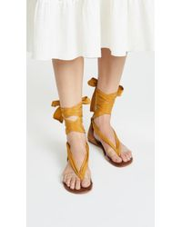 Free People - Barcelona Wrap Sandals - Lyst