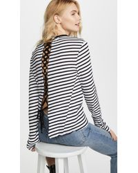 Pam & Gela - Lace Up Back Long Sleeve Tee - Lyst