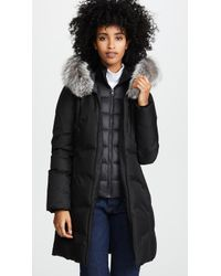 SOIA & KYO - Christy Brushed Down Coat - Lyst