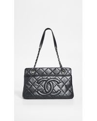 76889d9c2f33 What Goes Around Comes Around - Chanel Black Caviar Medium Shopping Bag -  Lyst