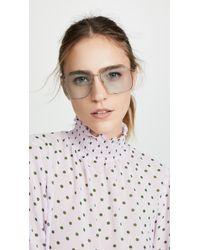 Gucci 80's Inspired Square Shaped Sunglasses - Multicolour