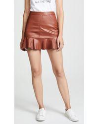 BB Dakota - Veni Vidi Vici Vegan Leather Miniskirt - Lyst