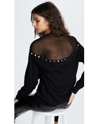 Alexander Wang - Pullover Sweater With Sheer Back - Lyst
