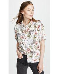 NSF - Tanis Short Sleeve Button Down Shirt - Lyst