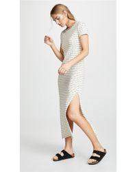 Three Dots - Stripe T-shirt Dress - Lyst