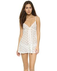 Hanky Panky | Peek-a-boo Lace Baby Doll With G-string | Lyst