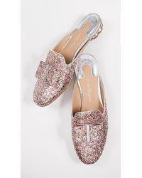 Ferragamo - Sciacca Glitter Mules - Lyst