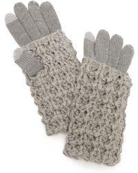 Rebecca Minkoff - Chunky Tuck Gloves - Lyst