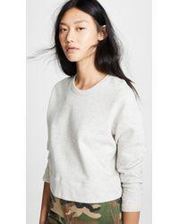 James Perse - Luxe Sweatshirt - Lyst