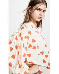 Vika Gazinskaya - Heart Print Blouse - Lyst
