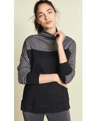 Terez - Mock Neck Tunic With Shimmer Detail - Lyst