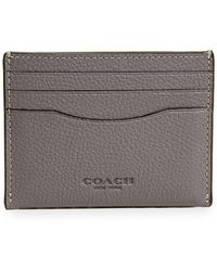 COACH - Pebbled Leather Card Case - Lyst
