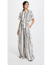 TOME | Oversized Jumpsuit With Belt | Lyst