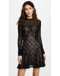 Alexander Wang - Lace Paneled Dress With Ladder Trim Detail - Lyst