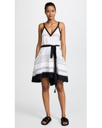 Proenza Schouler - Striped Cover Up Dress - Lyst