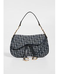 What Goes Around Comes Around - Dior Canvas Double Saddle Bag - Lyst