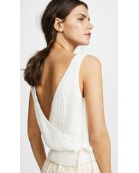 Vince - Crossover Tank - Lyst