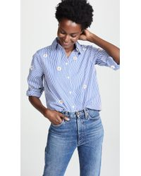 The Great - Oversized Swing Oxford Top - Lyst