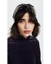 Jennifer Behr | Imitation Pearl Encrusted Head Wrap | Lyst
