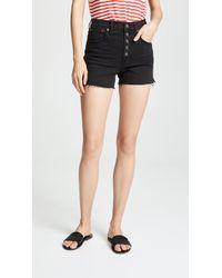 Madewell - High-rise Denim Boy Shorts - Lyst